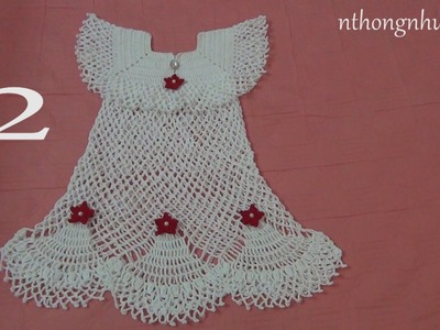 How to crochet a baby dress - Pattern 4 (2.4) (engsub)