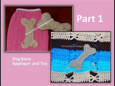 How to Crochet a dog bone appliqué