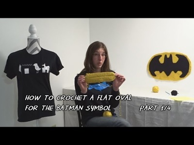 How to Crochet a Flat Oval for the Batman Symbol - Part 1.4