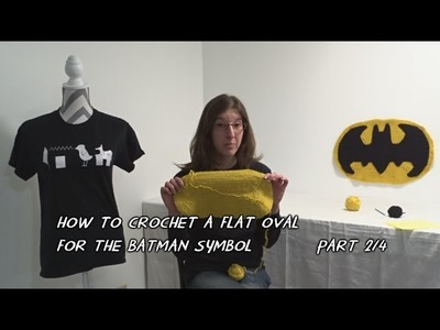 How to Crochet a Flat Oval for the Batman Symbol - Part 2.4