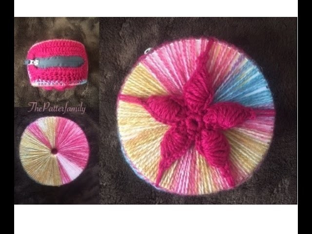 How to Crochet a Recycled CD Wallet.Clutch│by ThePatterfamily