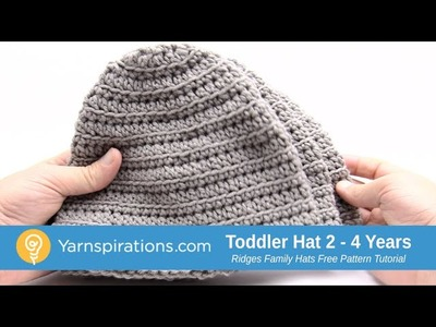 How to Crochet A Toddler Hat: Ridges Family Hat