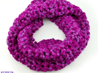 How To Crochet the Berry Sparkles Finger Crochet Cowl, Episode 312