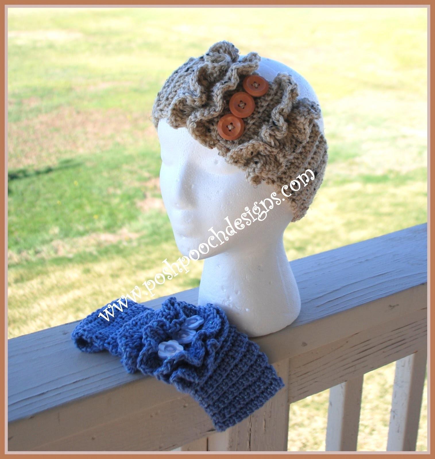 How to crochet the Double Ruffle Headband