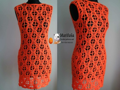 How to crochet tunic dress vestido free pattern gratis patron tutorial