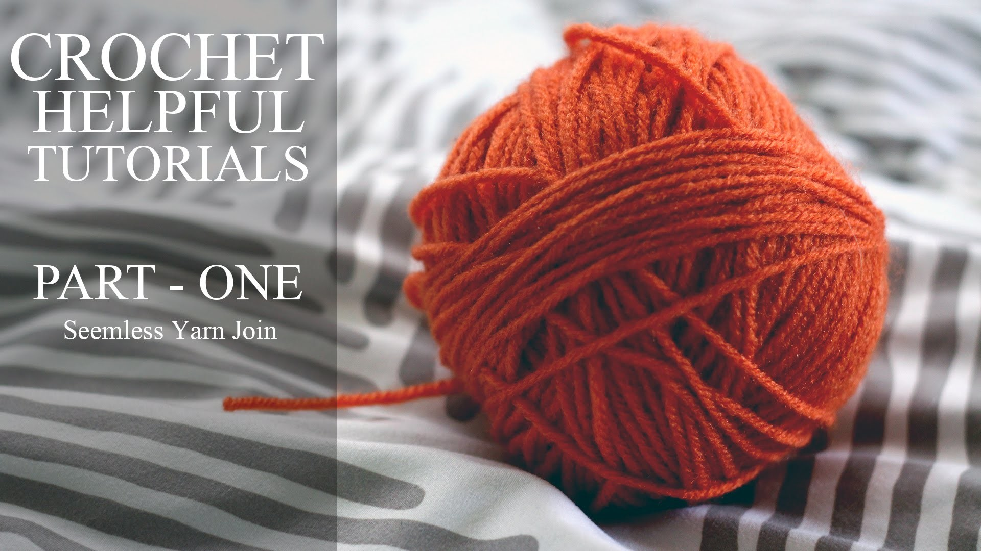 Joining Working yarn to New yarn for Crochet, Knitting, Crafts.