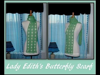 Lady Edith's Butterfly Stitch Scarf Crochet Pattern