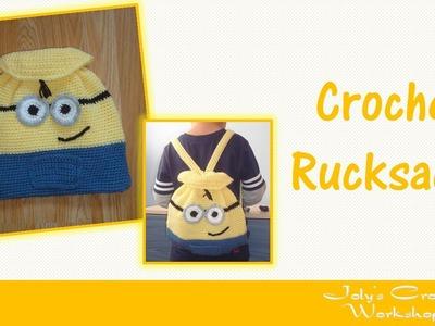 Minion - inspired crochet rucksack