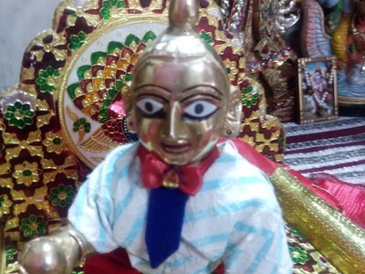 Part 6 - How to make bow & tie - three piece suit for our ladoo gopal  - with thread and needle