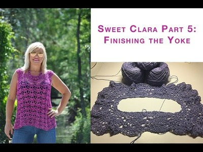 Sweet Clara Crochet Top: Part 5 Finishing the Raglan Yoke