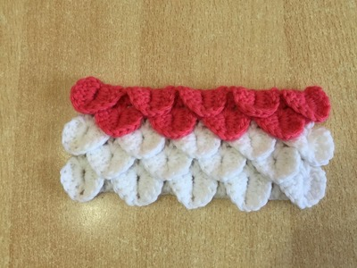 Tuto point crocodile au crochet
