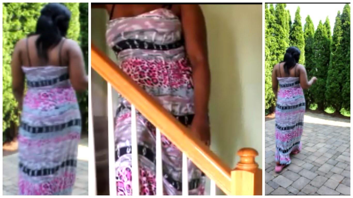 DIY HOW I ADD STRAPS TO A STRAPLESS DRESS OOTD FOTD