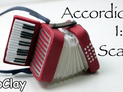 Dollhouse Accessories - How to make a 1:12 Scale Instrument Miniature Accordion