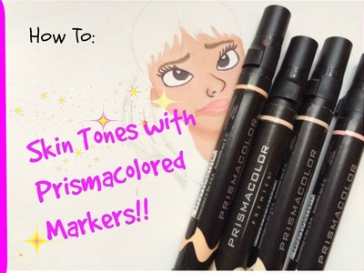 How to Color Skin Tones using Prisma Markers! l Beautyofoblivionart