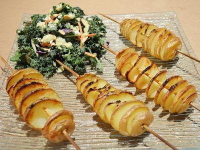 How to Cut a Potato Spiral on a Stick - Food life hacks