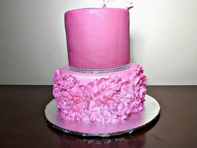 How to decorate a Ruffle Rose cake