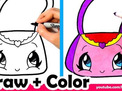 How to Draw a Purse Cute + Easy - Fun2draw