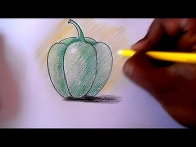 How to draw Capsicum step by step