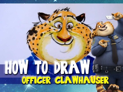 How to Draw OFFICER CLAWHAUSER from Disney's ZOOTOPIA - @dramaticparrot