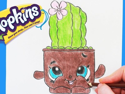 """How to Draw Shopkins Season 4 """"Prickles"""" Step By Step Easy 