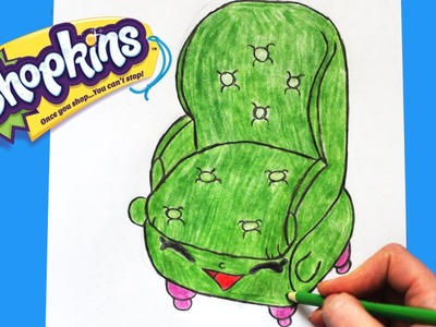 "How to Draw Shopkins Season 4 ""Comfy Chair"" Step By Step Easy 
