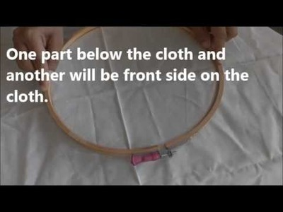 How to fix cloth into Embroidery Frame