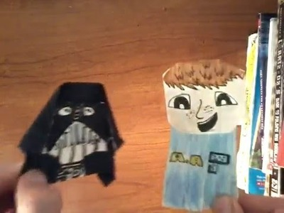 How to fold Origami Darth paper!