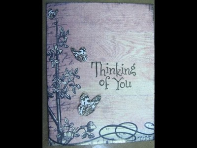 How to:  Handmade card using Scrapbook paper