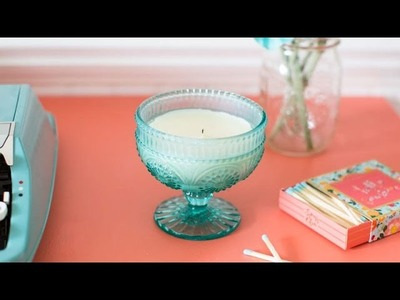 How to make a candle using wax cubes