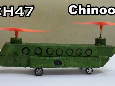How to Make a CH-47 Chinook Helicopter Model - Electric Toy