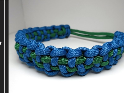 How to make a Checkered Paracord Bracelet.Dog Collar [UWA ORIGINAL DESIGN]