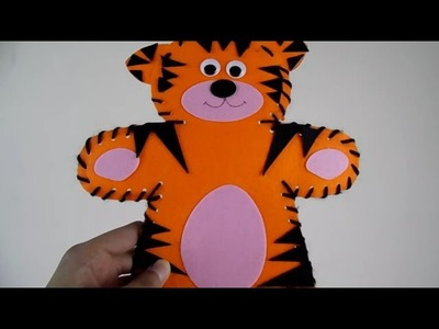How To Make A Hand Tiger Puppet