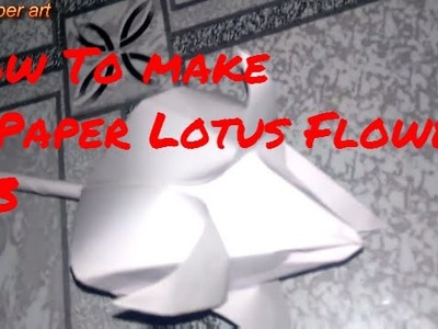How to Make A Paper Lotus Flower Easy Craft for Children #3