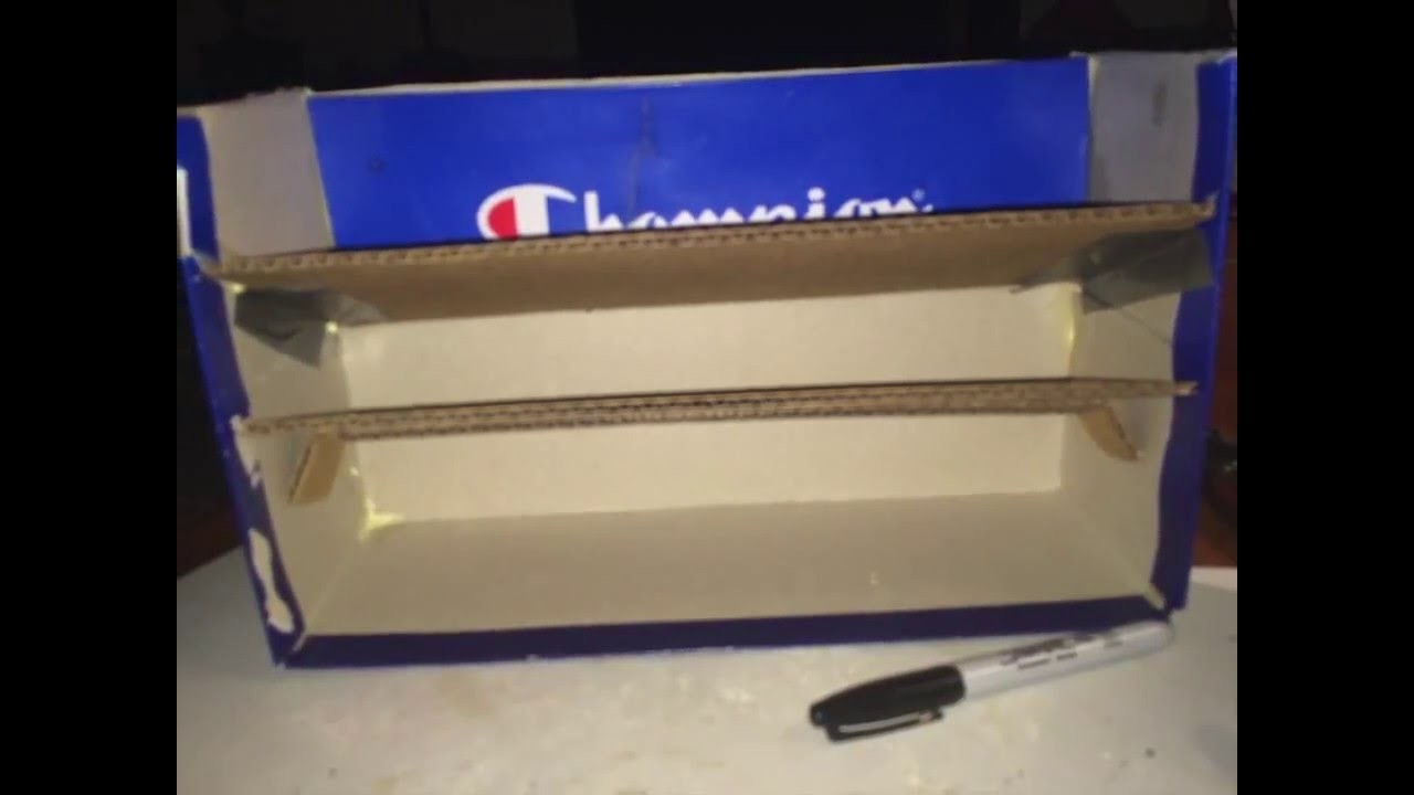 How to make a shoe box into a desk letter an bill  holder