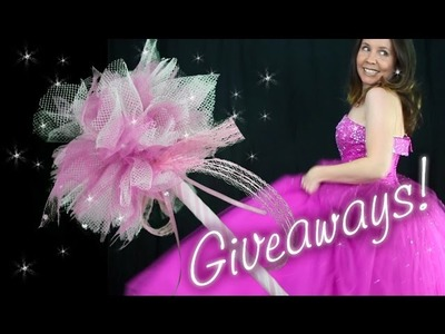 How to Make a Tulle Fairy Wand + Lots of Great Giveaways. Freebies ! #1