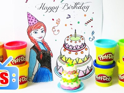 How To Make Birthday Cake For Anna's Birthday Party - Frozen Anna Coloring Book For Kids