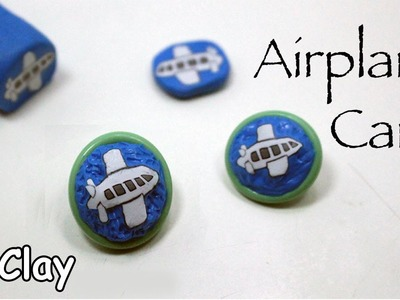 How to make buttons- Airplane millefiori cane - Polymer clay tutorial