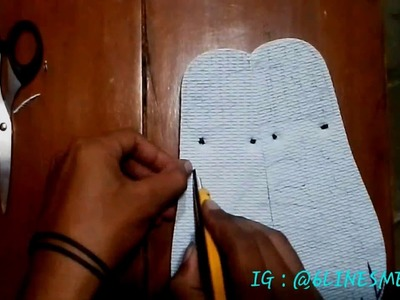 How to make carving sandals - Women Face