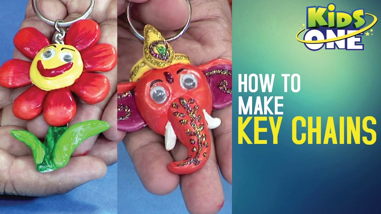 How to Make Key Chains | Easy Crafts for Kids | Creative Corner