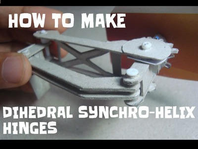 How to make Koenigsegg's Dihedral synchro-helical hinges.