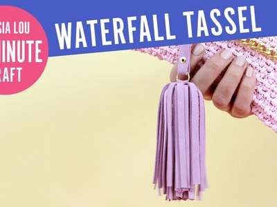 How to Make Leather.Suede Waterfall Tassel Keychains