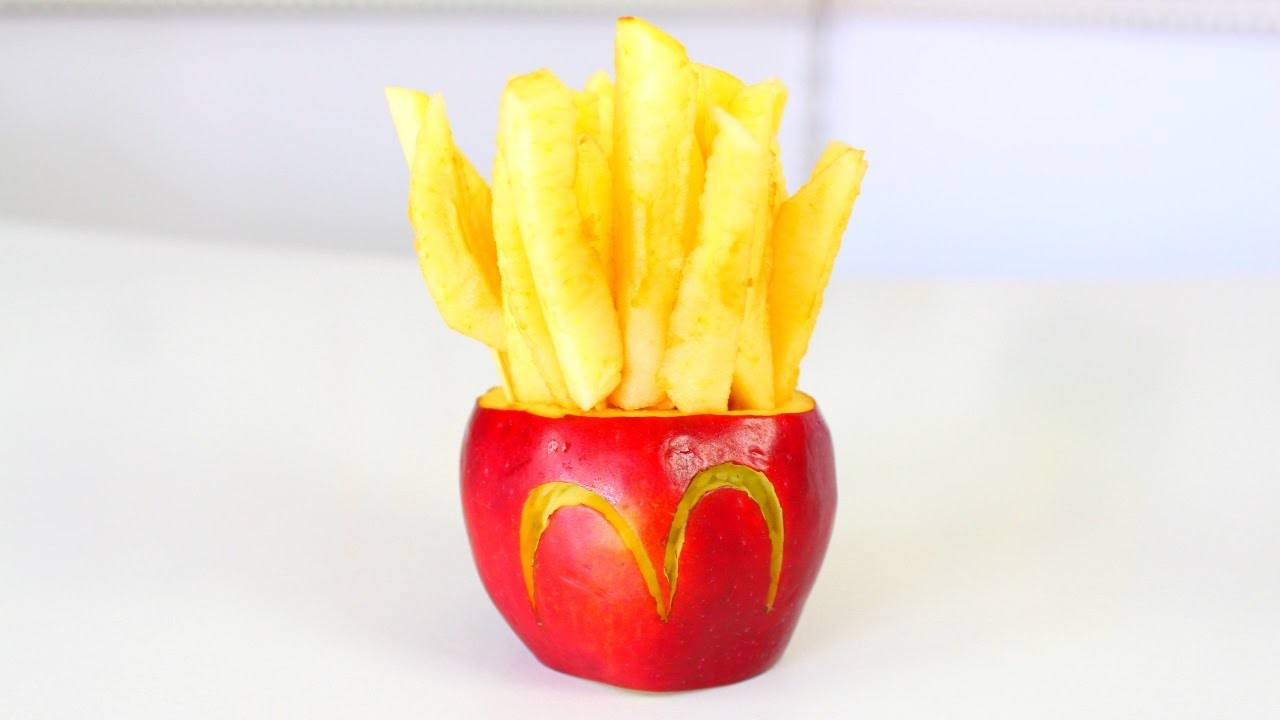 How to make McDonald's Fries Out Of An Apple!!!