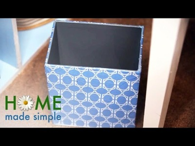 How To Make Over Your Waste Basket | Home Made Simple | OWN