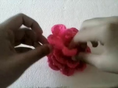 HOW TO MAKE ROSE OF WOOL