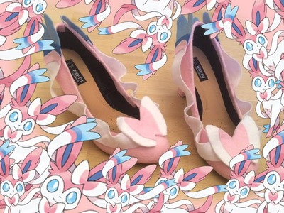 How to make Sylveon inspired shoes |Shay Bear