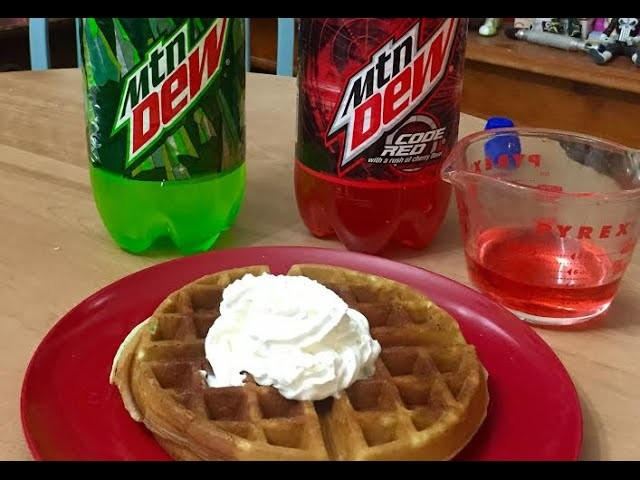 How To Mountain Dew Waffles Code Red Syrup