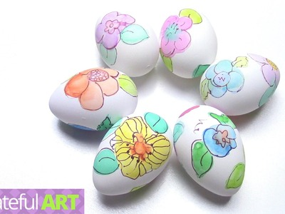 """How to Paint """"Floral Easter Eggs""""--with Watercolors"""