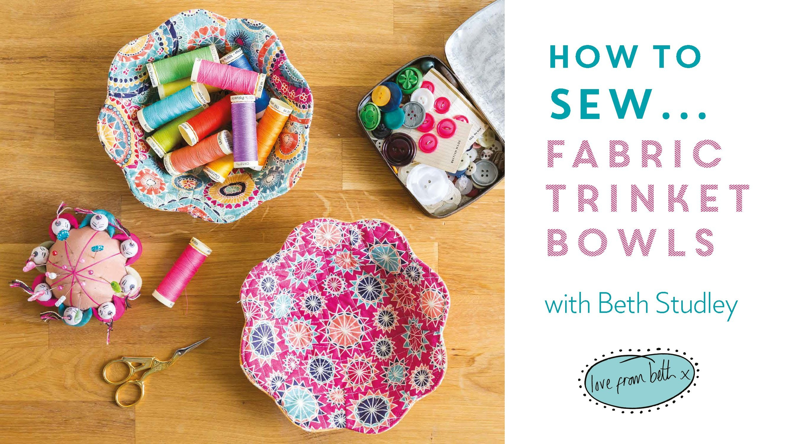 How to Sew Fabric Trinket Bowls PREVIEW