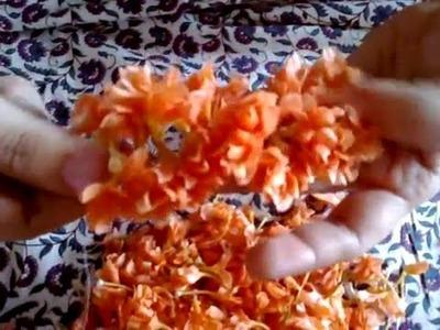 HOW TO STRING KANAKAMBARAM FLOWERS