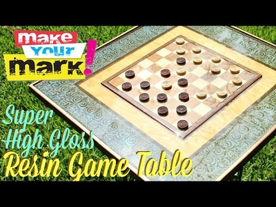 How to:  Super High Gloss Resin Game Table